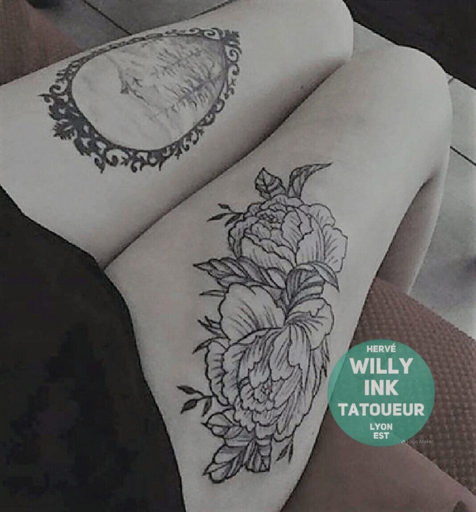 découvrir tatouage sur la cuisse