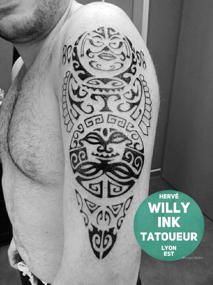 Tatouage Maori Sur L épaule Willy Ink Tatoueur à Lyon Est